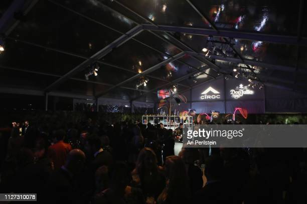 A view of atmosphere at the 27th annual Elton John AIDS Foundation Academy Awards Viewing Party celebrating EJAF and the 91st Academy Awards with...
