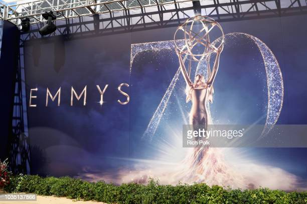 View of atmosphere at the 70th Annual Primetime Emmy Awards at Microsoft Theater on September 17 2018 in Los Angeles California