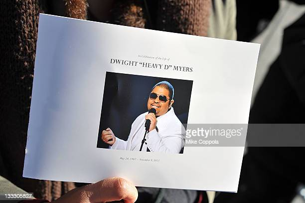 A view of atmosphere at the funeral service for Heavy D at Grace Baptist Church on November 18 2011 in Mount Vernon New York