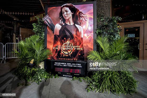 """View of atmosphere at The """"Hunger Games: Catching Fire"""" Knoxville Screening at Regal Pinnacle Stadium 18 on November 19, 2013 in Knoxville, Tennessee."""