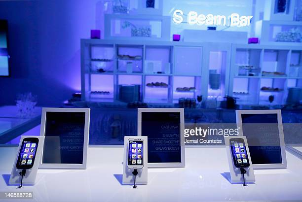 View of atmosphere at the interactive experience at the Samsung Galaxy S III launch day at Skylight Studios in NY on June 20, 2012 in New York City.