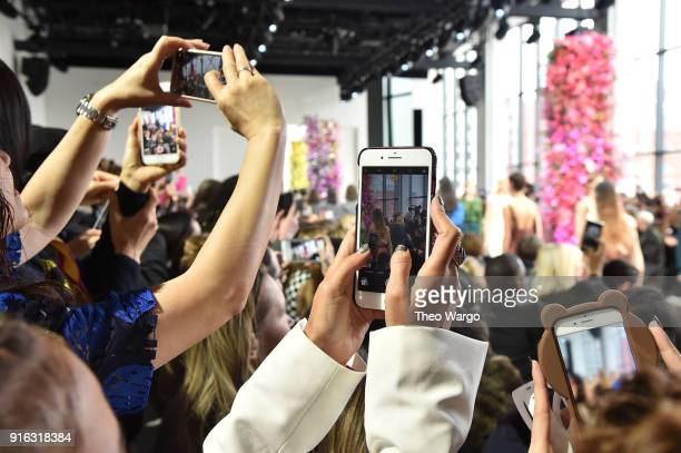 A view of atmosphere at the Jason Wu front row during New York Fashion Week The Shows at Gallery I at Spring Studios on February 9 2018 in New York...