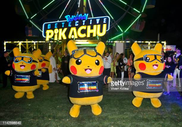View of atmosphere at the Levi's Brand Presents Neon Carnival with Bondi Sands and POKÉMON Detective Pikachu on April 13 2019 in Thermal California