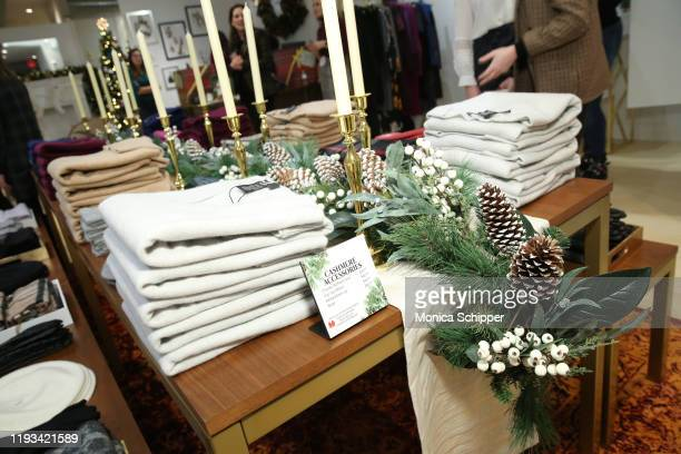 A view of atmosphere at the Lord Taylor and Le Tote holiday popup shop launch event on December 11 2019 in New York City