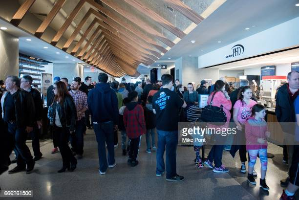 View of atmosphere at the NYCB LIVE Nassau Veterans Memorial Coliseum Open House at Nassau Veterans Memorial Coliseum on April 8, 2017 in Uniondale,...
