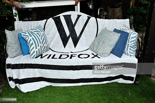 A view of atmosphere at the Wildfox Swim Cruise 2014 VIP BBQ at Soho Beach House on July 21 2013 in Miami Beach Florida