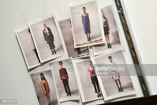 A view of atmosphere backstage at the Eckhaus Latta fashion show during New York Fashion Week on February 13 2017 in New York City
