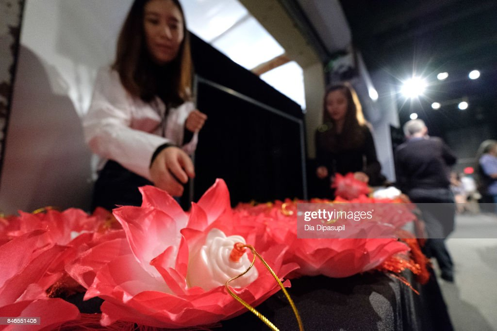 A view of atmosphere backstage at the Vicky Zhang fashion show during New York Fashion Week: The Shows at Gallery 1, Skylight Clarkson Sq on September 13, 2017 in New York City.