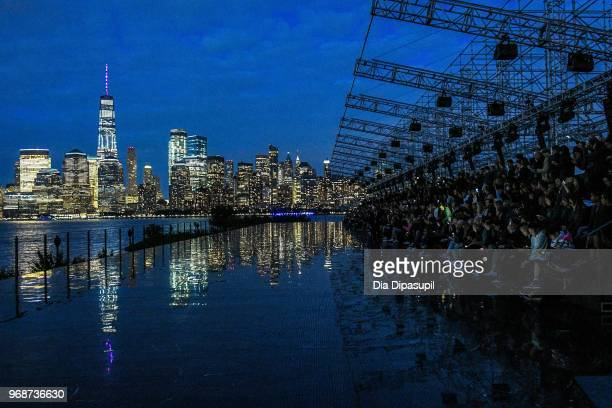 A view of atmosphere before the Saint Laurent Resort 2019 Runway Show on June 6 2018 in New York City