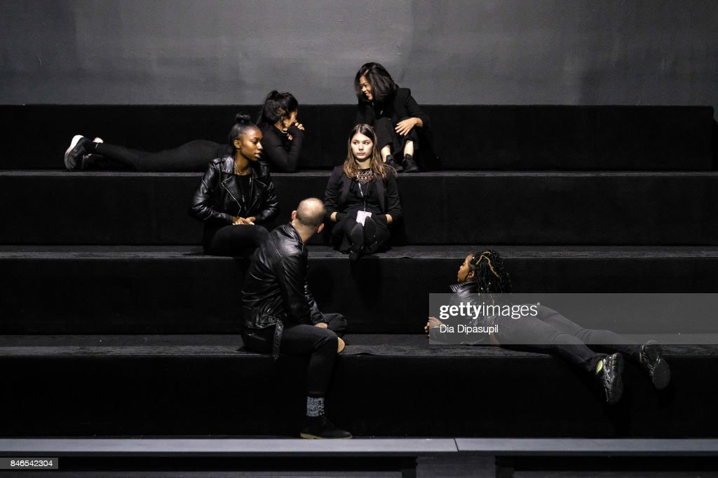 A view of atmosphere before the Vicky Zhang fashion show during New York Fashion Week: The Shows at Gallery 1, Skylight Clarkson Sq on September 13, 2017 in New York City.