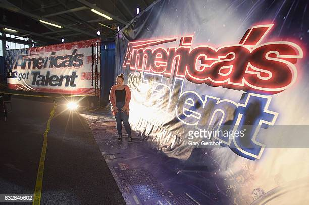 A view of atmosphere during 'America's Got Talent' Season 12 open call auditions at Queens College on January 27 2017 in the Queens borough of New...