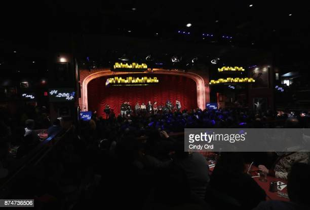 A view of atmosphere during SiriusXM host Ron Bennington's annual Thanksgiving Special at Hard Rock Cafe Times Square on November 14 2017 in New York...