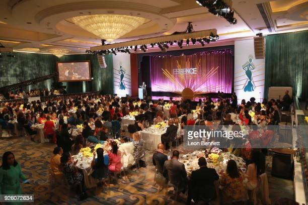 A view of atmosphere during the 2018 Essence Black Women In Hollywood Oscars Luncheon at Regent Beverly Wilshire Hotel on March 1 2018 in Beverly...