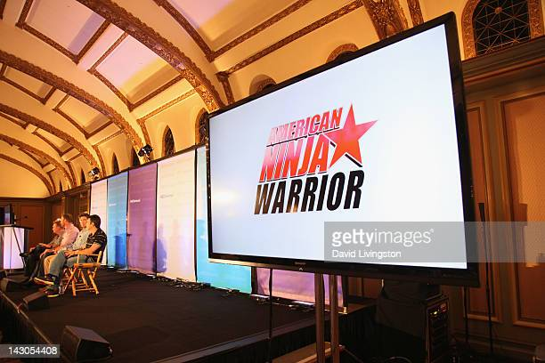 A view of atmosphere during the 'American Ninja Warrior' panel at the NBCUniversal summer press day held at The Langham Huntington Hotel and Spa on...