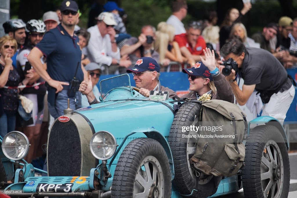 A view of atmosphere during the last day of the 1000 Miles Historic Road Race during Mille Miglia 2018 on May 19, 2018 in Brescia, Italy.