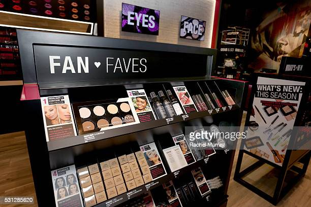 A view of atmosphere during the NYX Professional makeup store grand opening ribbon cutting celebration at Fashion Square Center on May 13 2016 in...