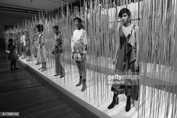 A view of atmosphere during the Tanya Taylor presentation in Gallery II during IMG NYFW The Shows at Spring Studios on February 11 2018 in New York...
