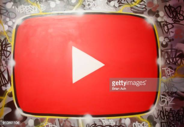 A view of atmosphere during YouTube brings the BOOM BAP BACK to New York City With Lyor Cohen Nas Grandmaster Flash QTip Chuck D and Fab 5 Freddy on...