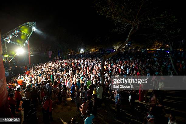A view of atmosphere from the main stage of Pigeon Island National Park of the 2014 St Lucial Jazz Arts Festival on May 9 2014 in Castries Saint Lucia