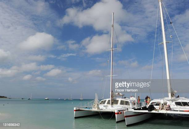 View of atmosphere on November 6 2011 in Aruba Aruba Red Sail Sports boasts four custom built luxurious catamarans which offer exhilarating rides...