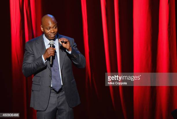 A view of atmosphere outside as comedian/actor Dave Chappelle performs at Radio City Music Hall on June 19 2014 in New York City