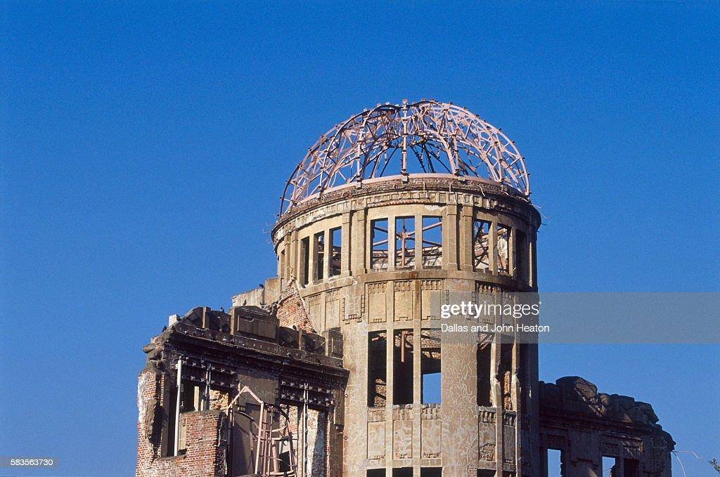 View of Atomic Dome Memorial, Hiroshima, Hiroshima Prefecture, Chugoku Region, Honshu, Japan : Stock Photo