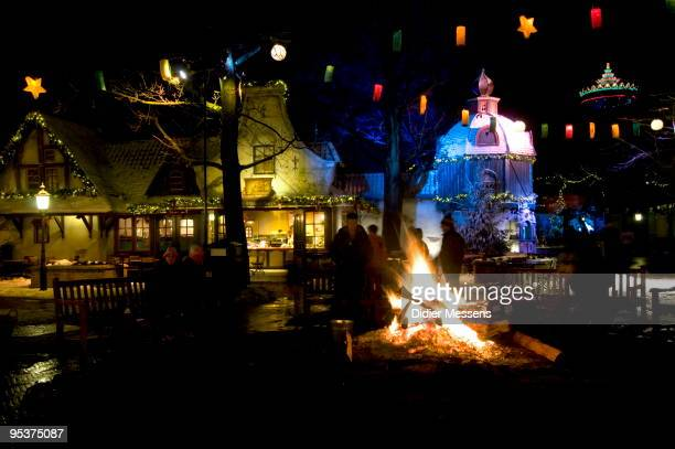 View of Aton Pieck Square at Efteling theme park on December 25 2009 in Kaatsheuvel Netherlands