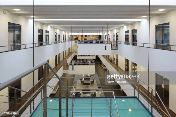 View of atrium with main staircase in foreground IBC Kolding Campus Kolding Denmark Architect schmidt hammer lassen architects 2006