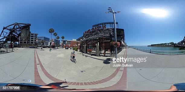 A 360 view of ATT Park on May 16 2016 in San Francisco California