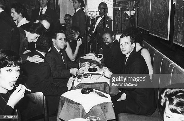 View of attendees at a party for Grove Press Party At Trudy Heller's retaraunt New York New York October 24 1962