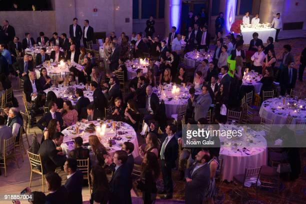 A view of attendees at the All Hands and Hearts Smart Response Third Annual Fight For Education gala at Cipriani Wall Street on February 15 2018 in...