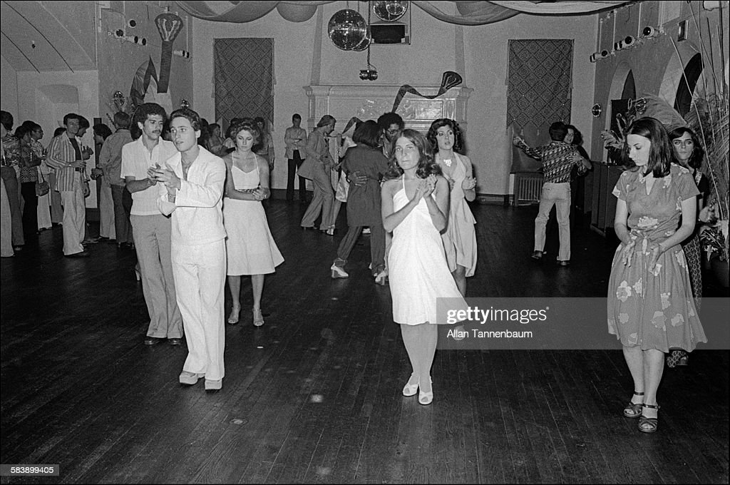 View of attendees at the 'Enchanted Garden Disco', New York, New York, June 23, 1976.