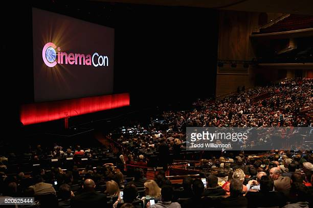 View of attendees during the CinemaCon 2016 Gala Opening Night Event: Paramount Pictures Highlights its 2016 Summer and Beyond Films at The Colosseum...