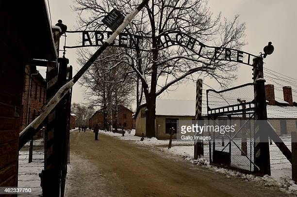 View of Auchwitz Death Camp during the 70th anniversary of the liberation of the Nazi German concentration and extermination camp, Auschwitz-Birkenau...