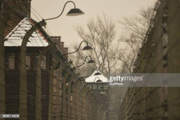 A view of Auschwitz 1 camp on the early cold winter morning just a few days ahead of the 73rd anniversary of the liberation of the German Nazi...