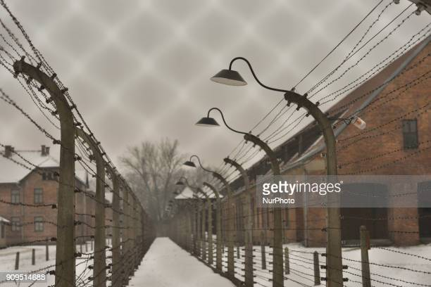 A view of Auschwitz 1 camp on the early morning just a few days ahead of the 73rd anniversary of the liberation of the German Nazi concentration and...