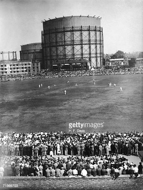 A view of Autralia's opening innings against England during the final test at the Oval 18th August 1934