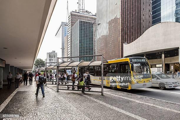 view of avenida (street) paulista - sao paulo - fotografias e filmes do acervo
