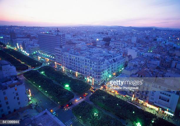 view of avenue de france and avenue habib bourguiba - tunis stock pictures, royalty-free photos & images