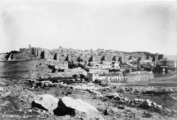 View of Avila showing wall around old part of city Photographic print albumen [between 1860 and 1880]