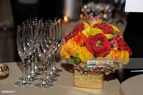A view of B Foral flower decor at B Floral Designs Change For Kids Annual Super Chefs Benefit at The Lighthouse at Chelsea Piers on November 3 2016...