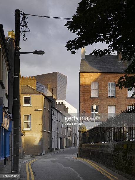 View of back of building from road showing adjacent buildings, Wexford Opera House, Concert Hall, Europe, Ireland, Wexford Keith Williams Architects...