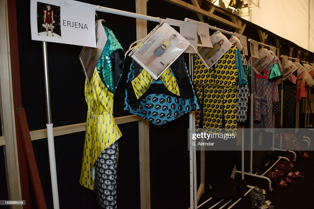 A view of backstage atmosphere at the Maybelline New York By DB Berdan show during Mercedes-Benz Fashion Week Istanbul s/s 2014 presented by American Express on October 8, 2013 in Istanbul, Turkey.