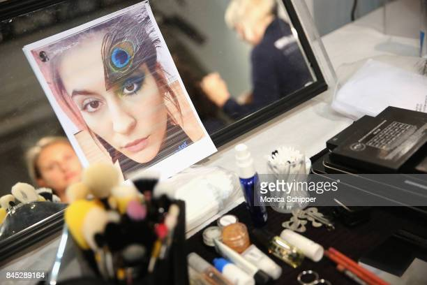 View of backstage for Dan Liu fashion show during New York Fashion Week The Shows at Gallery 3 Skylight Clarkson Sq on September 10 2017 in New York...