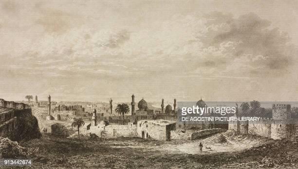 View of Baghdad Iraq engraving by Lemaitre from Arabie by Noel Desvergers avec une carte de l'Arabie et note by Jomard L'Univers pittoresque...