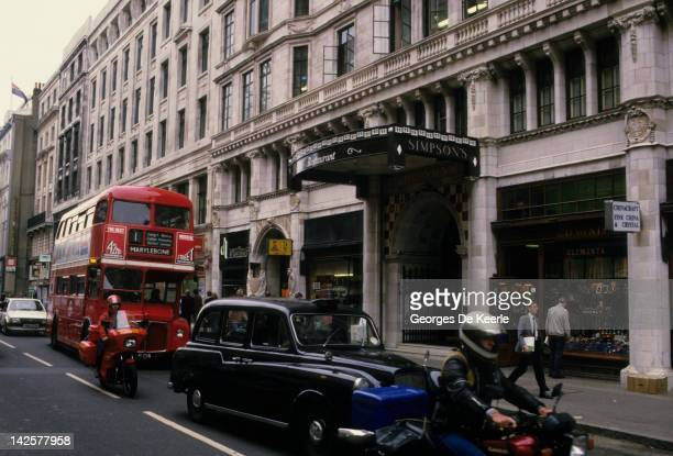 A view of Baker Street London W1 the home of fictional detective Sherlock Holmes 8th December 1986