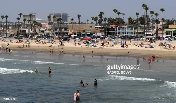 View of Balboa beach one of the popular beaches of Newport Beach California on August 17 2009 Newport Beach is also popular because the TV show The...