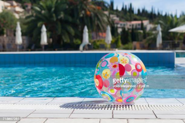 View Of Ball Next To Swimming