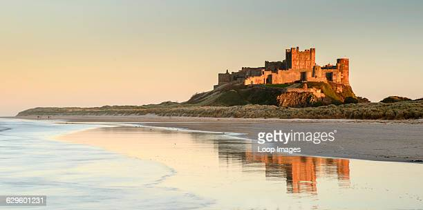 A view of Bamburgh Castle in Northumberland Bamburgh England