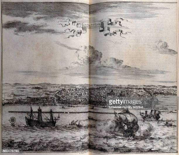 View of Banten a small port town located near the western end of Java in the Dutch East Indies 1727 From voyages made to Persia and India 1727 by...